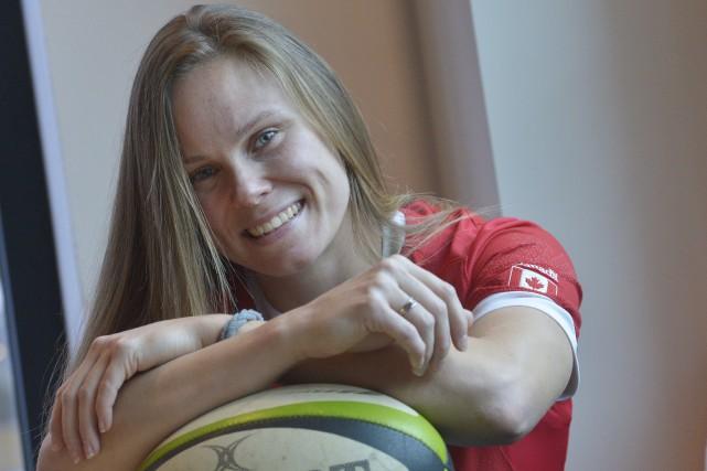 Membre de l'équipe canadienne de rugby féminin, Karen... (Photothèque Le Soleil, Jean-Marie Villeneuve)