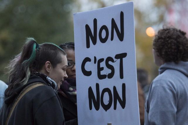 La marche pour dénoncer la culture du viol... (La Presse Canadienne)