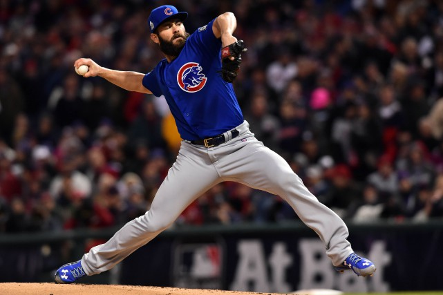Le lanceur partant des Cubs de Chicago Jake... (PHOTO Ken Blaze, USA Today Sports)