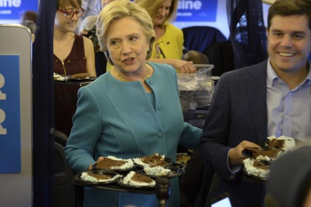 À l'occasion de son 69e anniversaire,Hillary Clinton a... (AFP, Robyn Beck)