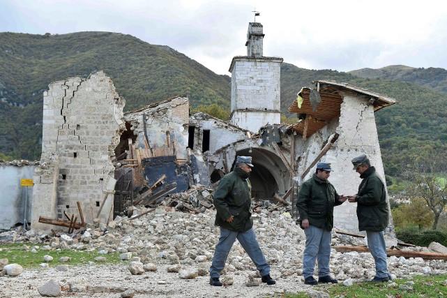 «Vu la force des secousses, le bilan est,... (REUTERS)