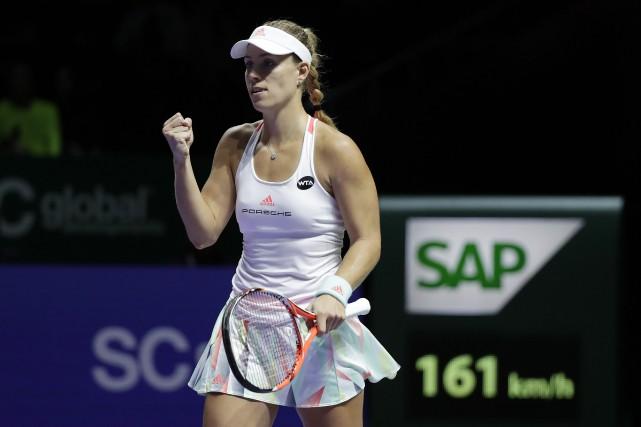 Angelique Kerber a défait Madison Keys 6-3, 6-3... (Photo Wong Maye-E, AP)