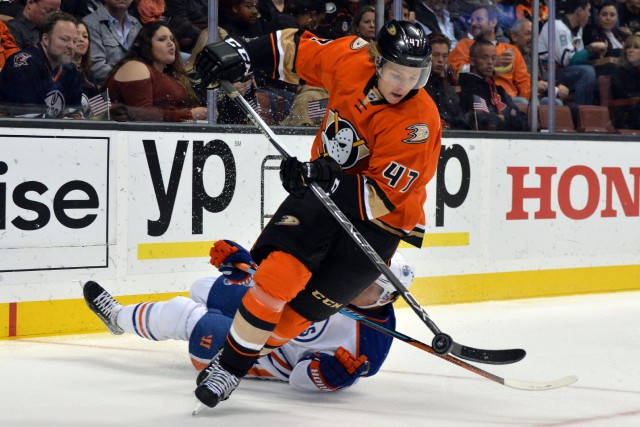 Hampus Lindholm... (Photo Kirby Lee, USA Today Sports)