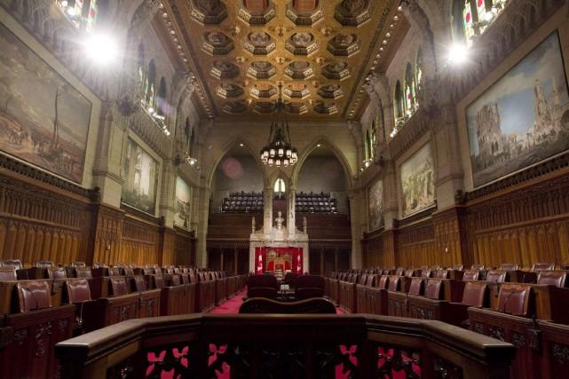 Le Sénat canadien, à Ottawa... (Archives La Presse Canadienne,Adrian Wyld)