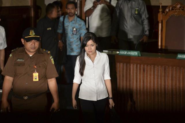 LégendeJessica Kumala Wongso (photo) a été reconnue coupable... (AFP, Bay Ismoyo)