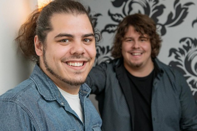 Érik et Sonny Caouette, qui forment le duo2Frères,... (PhotoFrédéric Côté, fournie par Imacom)
