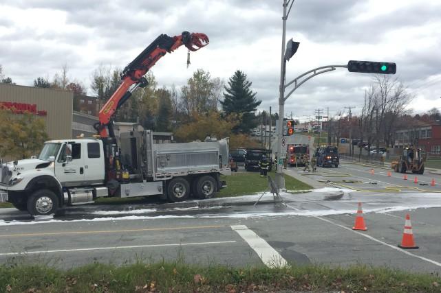 Une fuite de gaz naturel à l'intersection des rues Galt et du Conseil a...