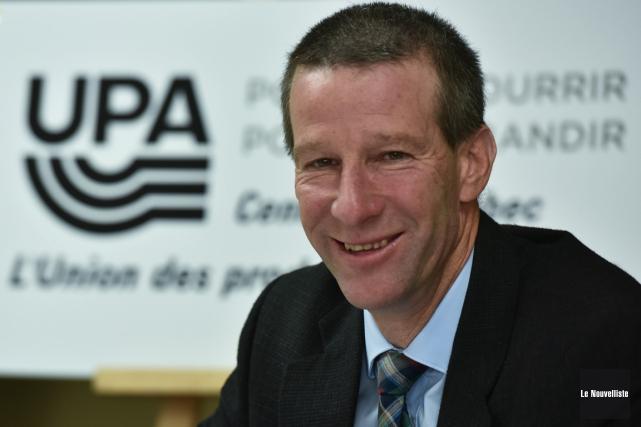 Daniel Habel a été élu président de l'UPA... (François Gervais, Le Nouvelliste)