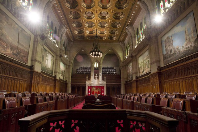 Le Sénat canadien, à Ottawa... (Photo Archives, La Presse canadienne)