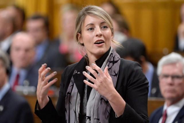 La ministre du Patrimoine canadien, Mélanie Joly... (Archives, La Presse canadienne)