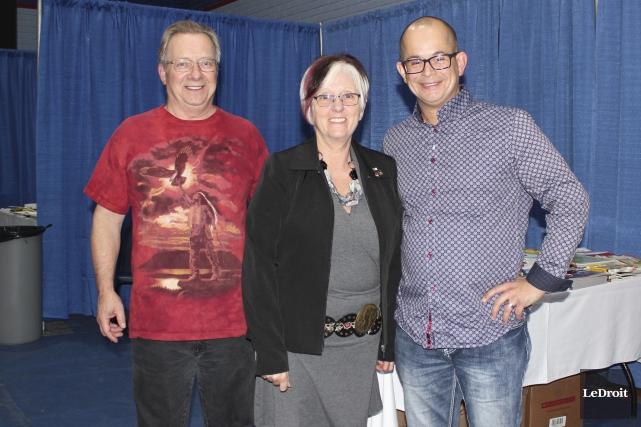 Les co-directeurs du Salon du livre, Marc Scott... (Martin Brunette, LeDroit)
