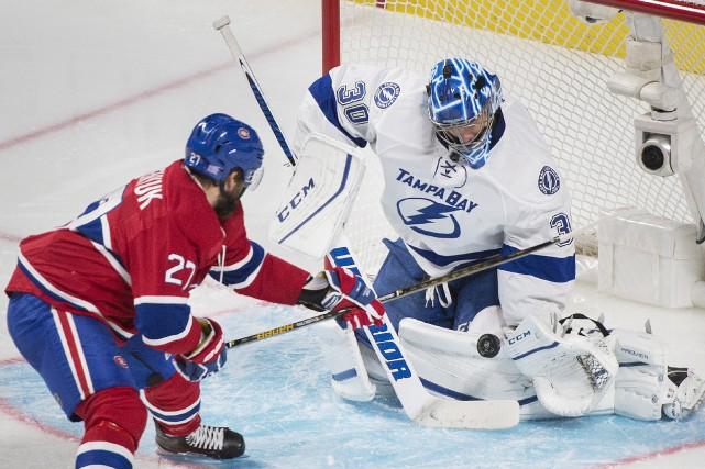 Le gardien du Lightning Ben Bishop a eu... (La Presse canadienne)