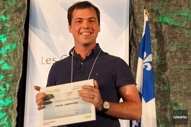 Pascal Lamontagne a reçu le Grand prix santé... (Alain Dion, La Voix de l'Est)