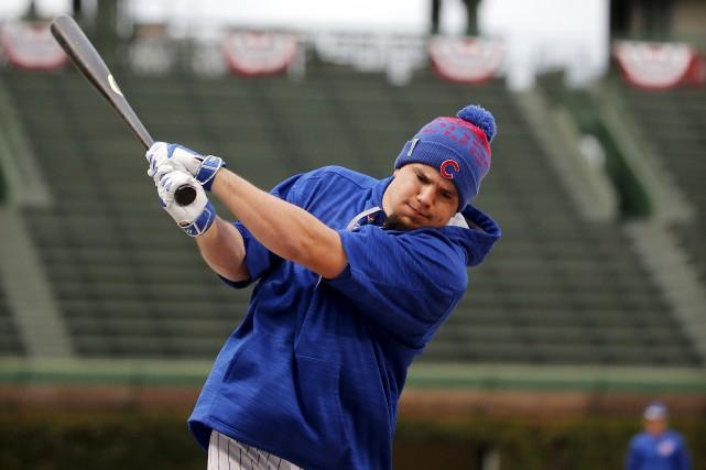 Le voltigeur des Cubs, Kyle Schwarber, ne pourra... (AP, Charles Rex Arbogast)