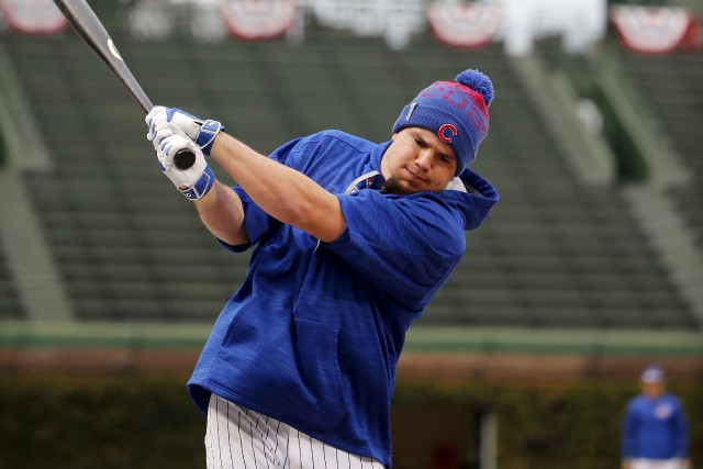 Le voltigeur des Cubs, Kyle Schwarber, ne pourra... (Associated Press)