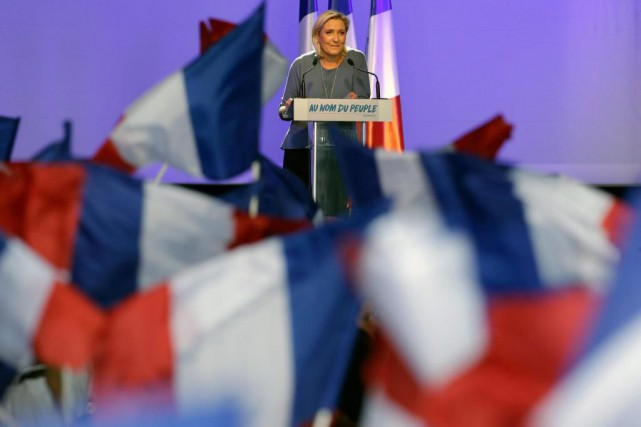 La dirigeante du Front national, Marine Le Pen,... (PHOTO CLAUDE PARIS, ARCHIVES ASSOCIATED PRESS)