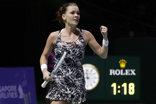 Agnieszka Radwanska a défaitKarolina Pliskova 7-5, 6-3, vendredi.... (Wong Maye-E, AP)