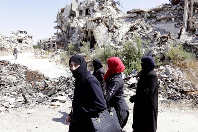 Dans la Syrie en guerre, plus de 860000... (photo LOUAI BESHARA, archives AFP)