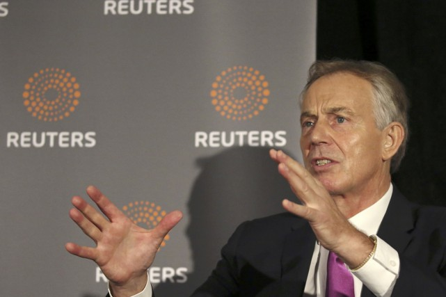 Dans le journal The New European, Tony Blair, premier... (photo Brian Webb, archives REUTERS)