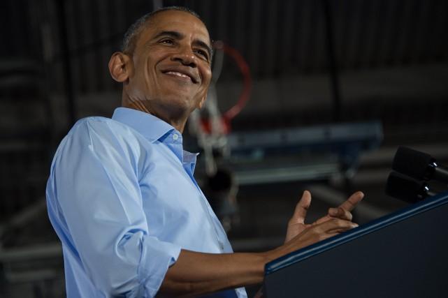 Le président américain Barack Obama... (Photo Nicholas Kamm, AFP)