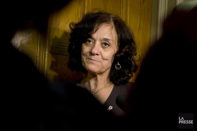 Rita De Santis,ministre responsable de l'Accès à l'information... (Archives, La Presse)