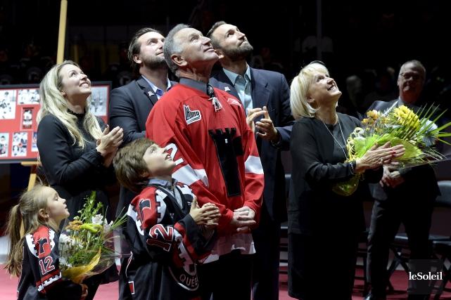 André Savard était accompagné de sa famille pour... (Le Soleil, Yan Doublet)