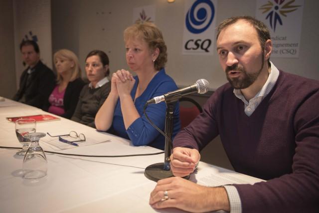 Benoit Houle, président du Syndicat de l'enseignement de... (Spectre Média, André Vuillemin)