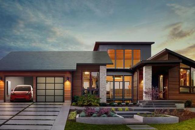 Le fabricant de voitures électriques Tesla a dévoilé vendredi des toits... (Image fournie par Tesla)