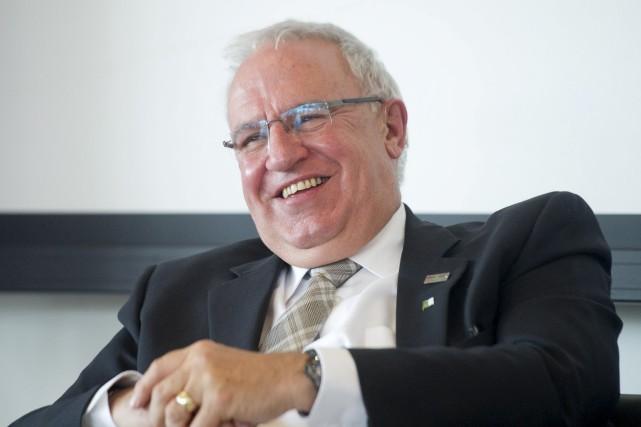 Le président sortant de l'Assemblée de la francophonie... (Patrick Woodbury, LeDroit)