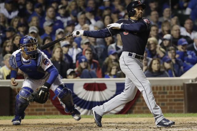 Coco Crisp a produit le point de la... (David J. Phillip, AP)