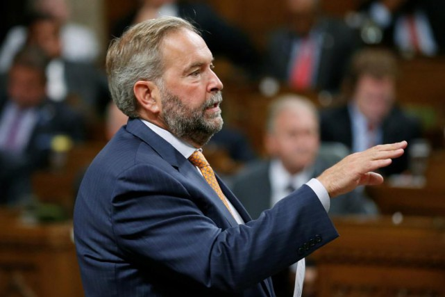 Thomas Mulcair critique notamment Justin Trudeau pour ne pas... (PHOTO Chris Wattie, archives Reuters)
