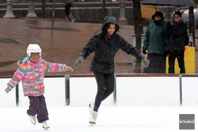 Même s'il n'y a pas encore de neige au sol, l'hiver se pointe déjà à Québec: la... (Le Soleil, Erick Labbé)