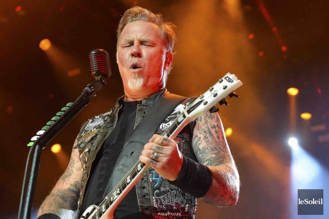 James Hetfield, leader de Metallica... (Photothèque Le Soleil, Caroline Grégoire)