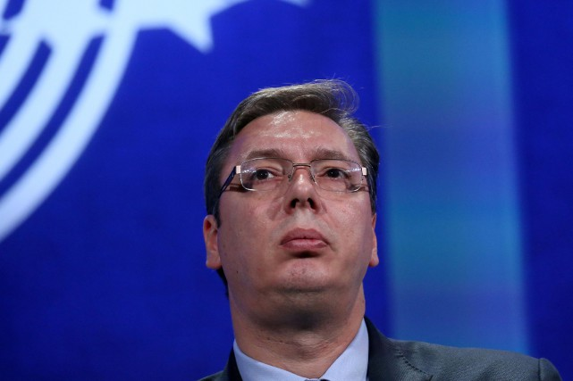 Le premier ministre serbe Aleksandar Vucic... (PHOTO ARCHIVES REUTERS)
