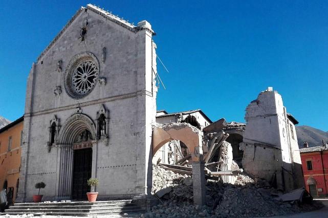 La célèbre basilique San Benedetto de Norcia a... (Photo Matteo Guidelli, AP/ANSA)
