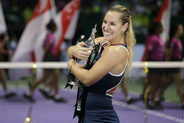 Cibulkova, qui terminera la campagne au cinquième rang... (AP)