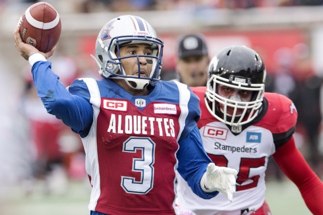 Vernon Adams Jr. sur le point de faire... (La Presse Canadienne)