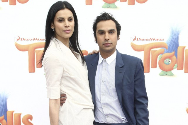 Kunal Nayyar et sa femme, l'ex-Miss Inde Neha... (AFP, Tommaso Boddi)