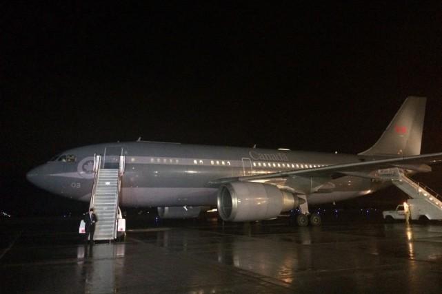 L'Airbus de l'ARC a dû revenir à Ottawa,... (Photo La Presse Canadienne)