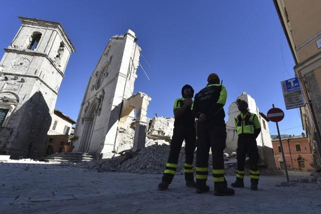 À Norcia, la basilique San Benedetto, joyau du... (AFP, Alberto Pizzoli)