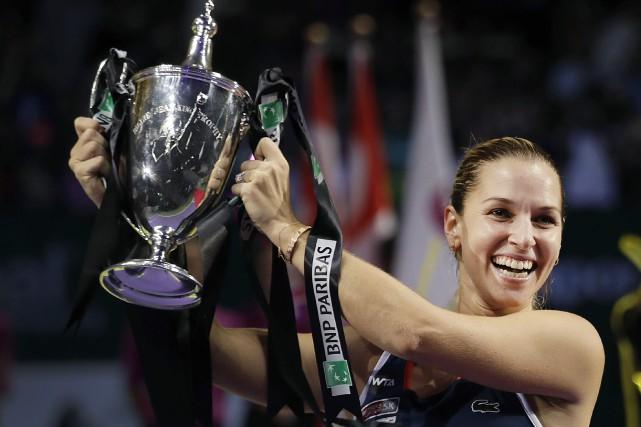 Dominika Cibulkova a remporté les Finales de la... (Photo Wong Maye-E, AP)