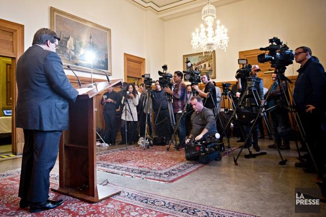 Denis Coderre, le maire de Montréal... (PHOTO PATRICK SANFAÇON, LA PRESSE)