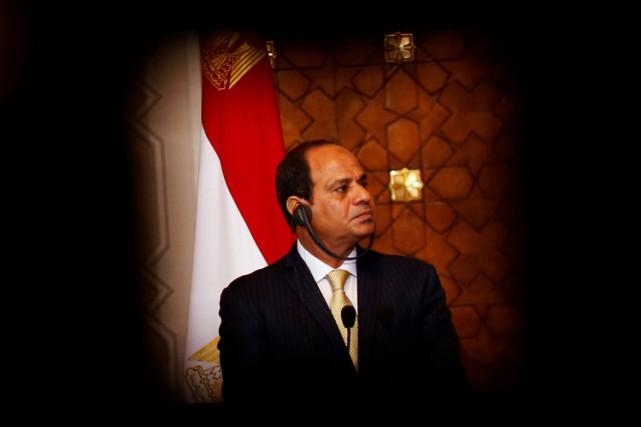 Le président égyptien, Abdel Fattah al-Sissi,avait prétendu avoir... (PHOTO REUTERS)