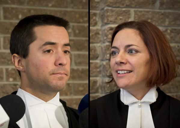 Me Jean-Guillaume Blanchette, avocat de la défense, etMe... (Spectre Média, Jessica Garneau)