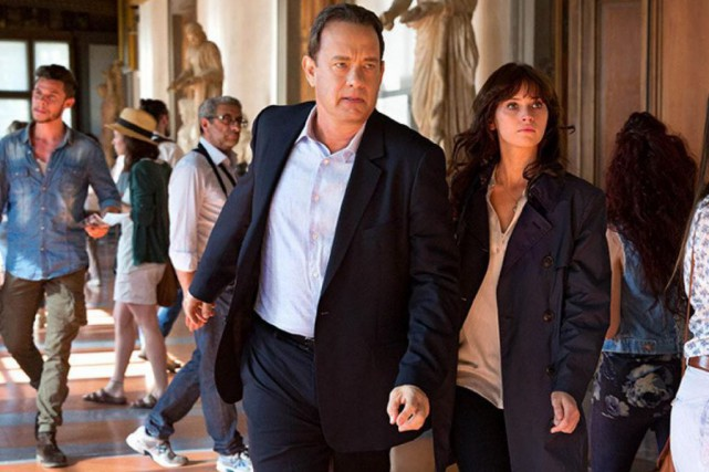 Tom Hanks et Felicity Jones dans Inferno de Ron... (Photo fournie par Sony Pictures)