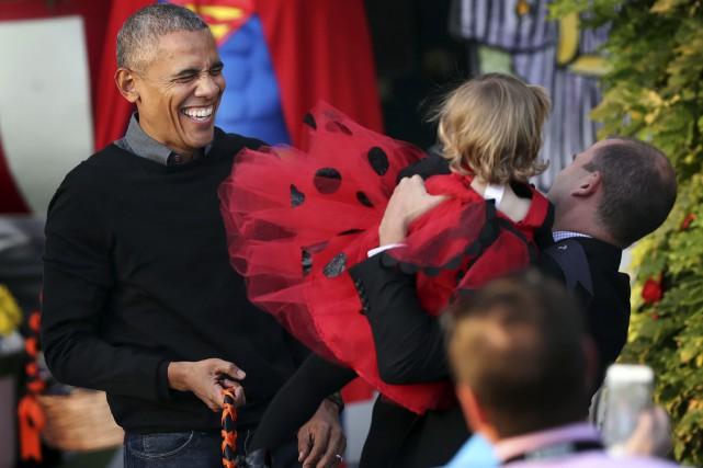 Pour sa dernière Halloween à la Maison-Blanche, le... (AP, Manuel Balce Ceneta)