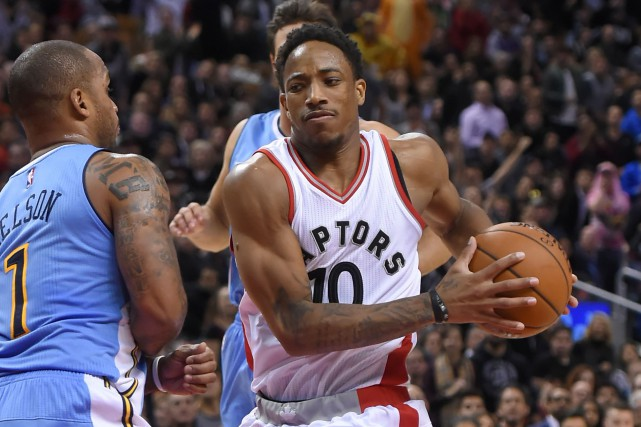 DeMar DeRozan (10) a inscrit 33 points dans... (Photo Dan Hamilton, USA Today Sports)