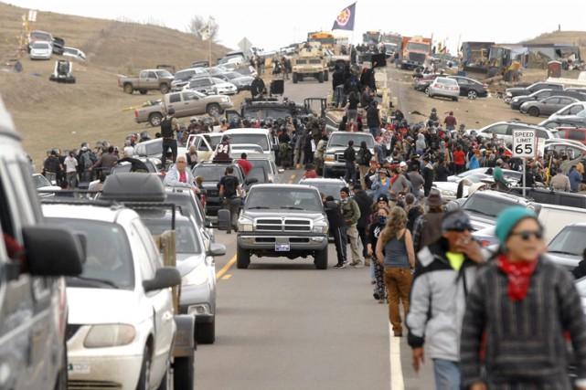 Une centaine de manifestants ont été arrêtés jeudi... (PHOTO AP)
