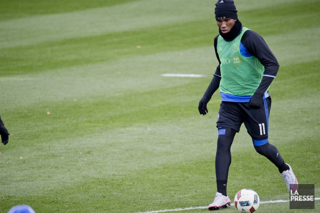 Didier Drogba était de retour à l'entraînement avec... (David Boily, La Presse)
