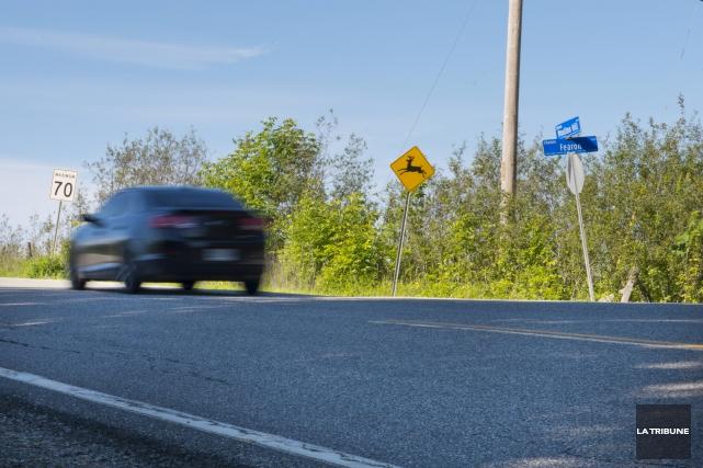 La vitesse élevée sur le chemin Moulton Hill... (Archives, La Tribune)